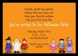 simple orange background kids halloween costume party invitation