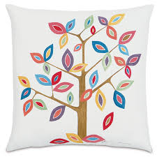 elizabeth whimsical tree pillow and artwork in decor multi color