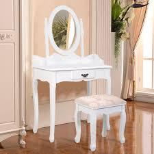 cheap white vanity desk amazon com giantex bathroom vanity table set w mirror cushioned