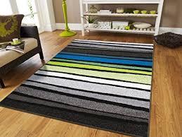 Grey Striped Rug Amazon Com New Fashion Large 8x11 Striped Rug Blue Rugs Clearance