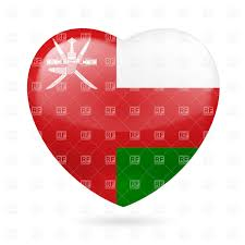 Oman Flag Wallpaper I Love Oman Heart With Flag Colors Royalty Free Vector Clip Art