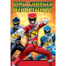 Post Card Invites Power Rangers Dino Charge Postcard Invitations Birthdayexpress Com