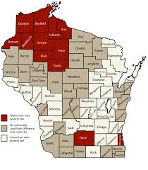 Counties In Wisconsin Map by Annual Poverty Report Shows Economy Improving But Support