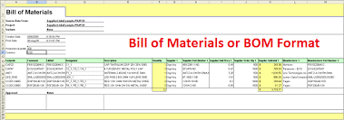 Bom Template Excel Free Bill Of Materials Template For Excel