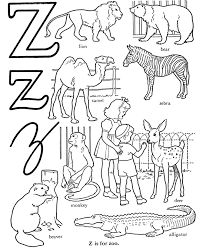 abc coloring book pages coloring