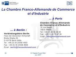chambre de commerce franco allemande chambre franco allemande de commerce et d industrie ppt télécharger