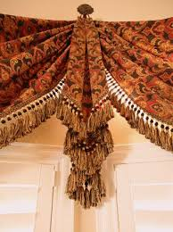 Victorian Swag Curtains Tapestry Swags With Formal Jabots Luxury Trim Available