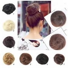 bun scrunchie stylish ponytail women clip in on hair bun hairpiece hair