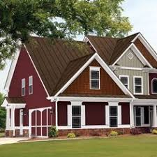 red roof and house paint color schemes google search exterior