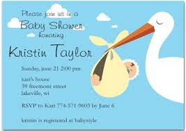 stork baby shower stork blue baby shower invitations