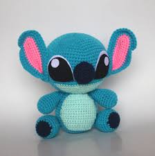 handmade crochet stitch stitch plush toy blue stitch stitch