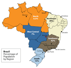 Blank Map Of Brazil by Brazil
