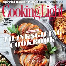 november 2016 magazine features cooking light