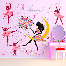 Diy Paintings For Home Decor Aliexpress Com Buy Diy Wall Sticker Butterfly Wall Decals Ballet