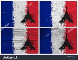 Image Of French Flag Collage French Flag Different Texture Backgrounds Stock Photo