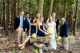 blue gray bridesmaid dresses southern etiquette tuxedos with navy dresses southern weddings