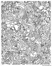 doodle art doodling 15 coloring pages printable