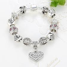 crystal charm bracelet beads images Eleshe luxury brand women bracelet 925 unique silver crystal charm jpg