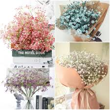silk baby s breath artificial baby s breath gypsophila silk flowers bouquet home