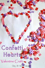confetti hearts valentine craft stay at home educator