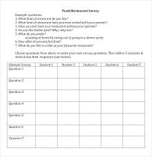 13 restaurant survey templates u2013 free sample example format
