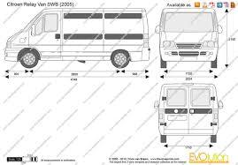 peugeot bipper dimensions the blueprints com vector drawing citroen relay van swb