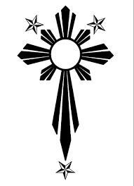 cross clip with sun rays hanslodge cliparts