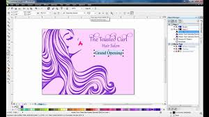 Standard Invitation Card Sizes Creating A Postcard With Coreldraw Graphics Suite X6 Youtube