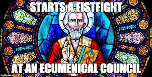 St Nicholas Meme - let s stop celebrating st nicholas punching arius