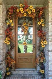 sunflower garland for front door autumn deco pictures photos and