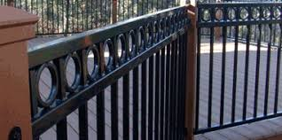 Iron Banister Rails Metal Deck Railing The Deck Store Online