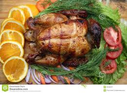 whole roasted chicken with fresh vegetables stock image image of