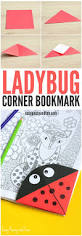 ladybug corner bookmark origami for kids easy peasy and fun