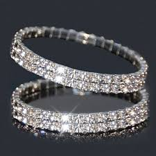 bracelet crystal tennis images Buy 2 piece swarovski elements double row crystal stretch tennis jpg
