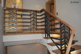 rambarde escalier design garde corps et rampe escalier metal bois la ferode