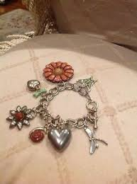 themed charm bracelet vintage nature themed charm bracelet flowers hearts ebay