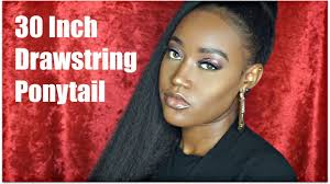 yaki pony hair for braiding 24 inches pictures of women 9 30 inch drawstring ponytail on natural hair youtube