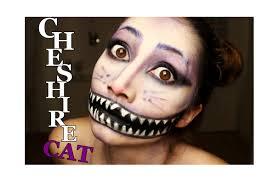 black swan halloween makeup grinsekatze make up tutorial creepy halloween cheshire cat look