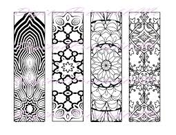 printable bookmark coloring page book mark instant