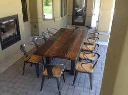 Dining Room Table Reclaimed Wood Reclaimed Wood Dining Room Table Steel Base Dining Room Tables