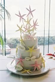 summer wedding idea beach wedding cake
