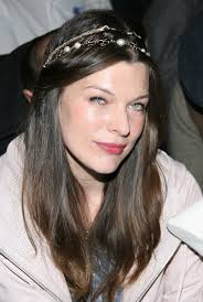jeweled headbands milla jovovich with jeweled headbands