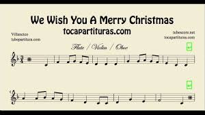 we wish you a merry sheet for flute violin and