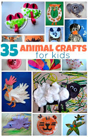 Easy Arts And Crafts For Kids With Paper - 35 easy animal crafts for kids no time for flash cards