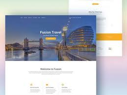 fusion website template for travel agencies freebiesbug