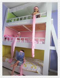 bedroom bunk beds for kids with desks underneath deck home