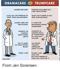 Obama Care Meme - obamacare vs trumpcare insures millions ensures millions will lose