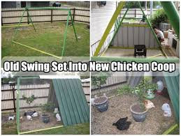 upcycled recycled coops swing set frames u0026 trampoline frames