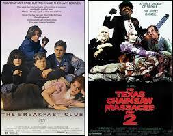 Texas Chainsaw Massacre Meme - breakfast club poster compared to texas chainsaw massacre 2 poster