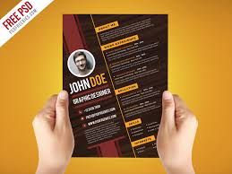 Artistic Resume Templates Free Free Psd Creative Graphic Designer Resume Psd Template Free